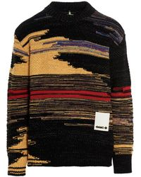 OAMC Abstract Pattern Knit Crewneck Jumper - Multicolour