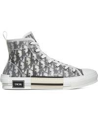 Dior B23 Oblique High-top Sneakers - Gray