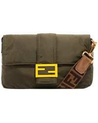 Fendi Baguette Ff Clasp Bag - Green
