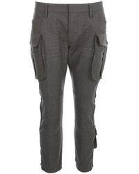 DSquared² Cargo Pocket Cropped-leg Pants - Grey