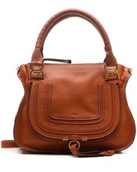 Chloé Marcie Shoulder Bag - Brown