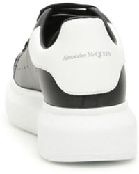 Alexander McQueen Oversize Leather Sneakers - Black