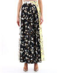 Off-White c/o Virgil Abloh Contrast Print Maxi Skirt - Black