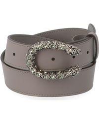 Gucci Dionysus Buckle Belt - Gray