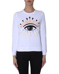 KENZO Eye Embroidered Jumper - White
