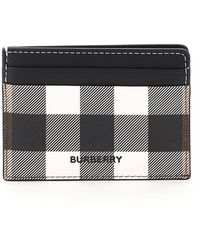 Burberry Checked Card Case - Black