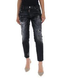 DSquared² Faded Boyfriend Jeans - Black