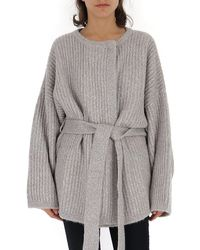 See By Chloé Oversize Belted Cardigan - Grey