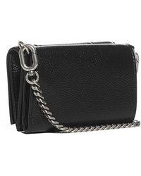 Balenciaga Hourglass Leather Mini Wallet Bag - Black