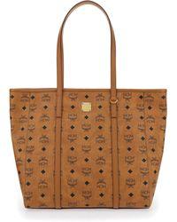 MCM Monogram Print Shopper Bag - Brown