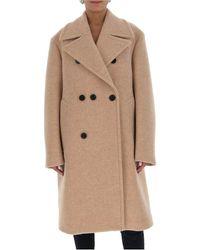 Jil Sander Double Breasted Coat - Natural