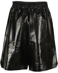 Bottega Veneta Wide-leg Shorts - Black