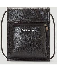 Balenciaga Explorer Pouch Crossbody Bag - Black