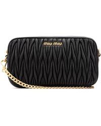 Miu Miu Matelassé Belt Bag - Black