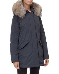 Woolrich Hooded Puffer Jacket - Blue