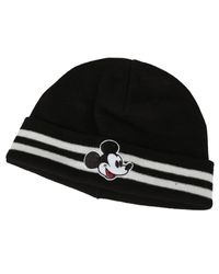 Gcds Mickey Mouse Logo Embroidered Beanie - Black