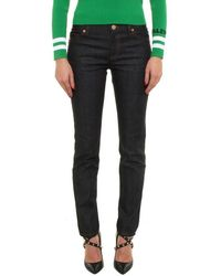 Valentino Stud-detail Skinny Jeans - Blue
