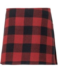 DSquared² Pleated Tartan Skirt - Red