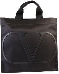 Valentino Vlogo Tote Bag - Black
