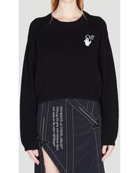 Off-White c/o Virgil Abloh Embroidered Knitted Sweater - Black