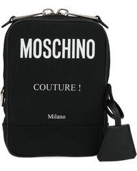 Moschino Logo Shoulder Bag - Black