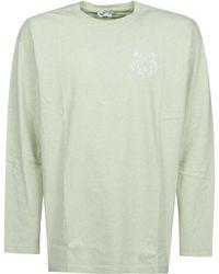 KENZO Motif Printed Crewneck T-shirt - Green