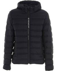 Givenchy Logo Band Puffer Jacket - Black