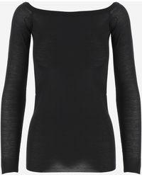Stella McCartney Boat-neck Knit Top - Black