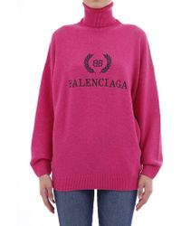 Balenciaga - Embroidered Logo Jumper - Lyst