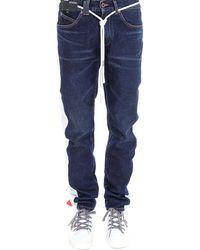 Off-White c/o Virgil Abloh Drawstring Side Band Jeans - Blue