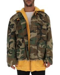 c318596f4cea1 R13 Yellow Camo Abu Hoodie Jacket for Men - Lyst