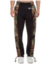 Moschino Camouflage Logo Track Trousers - Black
