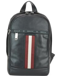 Bally Trainspotting Hari Leather Backpack - Black