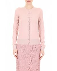 Dolce & Gabbana Button Embellished Cardigan - Pink