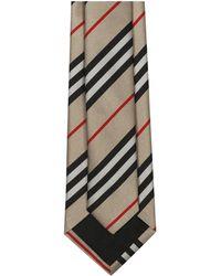 Burberry Icon Stripe Tie - Natural