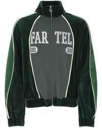 Telfar Colour Block Zipped Sweatshirt - Green