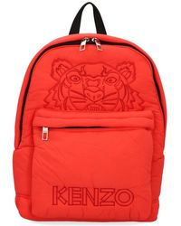 KENZO - Tiger Logo Embroidered Backpack - Lyst