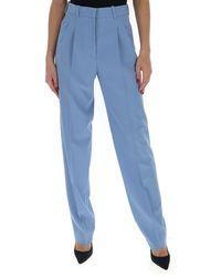 Stella McCartney High-waisted Straight Leg Trousers - Blue