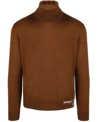 DSquared² Roll Neck Knitted Jumper - Brown