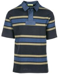 Versace Jeans Couture Polo Collar Striped T-shirt - Blue