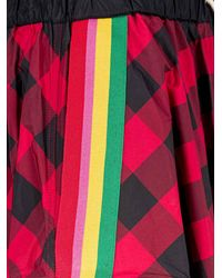 Palm Angels Checked Drawstring Skirt - Red