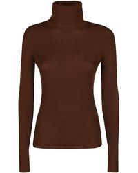 P.A.R.O.S.H. Turtleneck Knitted Jumper - Brown