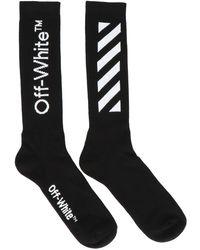 Off-White c/o Virgil Abloh Mid-length Logo Socks - Black