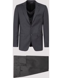 Lanvin Single Breasted Two-piece Suit - Grey