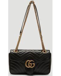 Gucci GG Marmont Matelassé Leather Super Mini Bag - Black