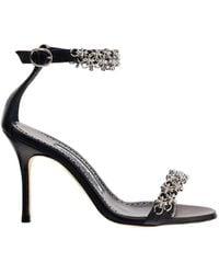 Manolo Blahnik Rekik Chain-detailed Sandals - Black