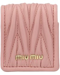 Miu Miu Matelassé Airpods Case - Pink