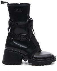 Chloé Betty Buckled Boots - Black