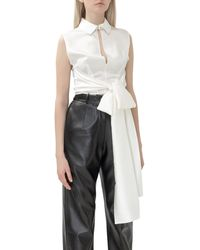 Matériel Bow-detail Sleeveless Top - White