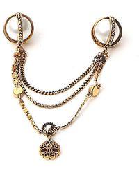 Alexander McQueen Embellished Brooch - Metallic